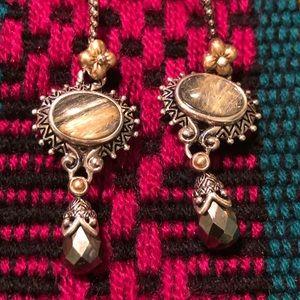 BARBARA BIXBY  Rutilated Quartz Earrings NWOT